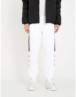 Logo-embroidered cotton-jersey jogging bottoms