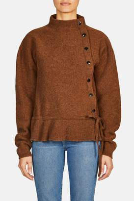 Lemaire Asymmetric Button Cardigan - Rust