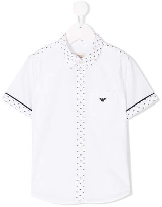 Emporio Armani Kids logo embroidered shirt