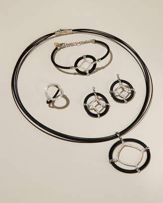 Alor Open Diamond-Station Cable Bracelet, Black