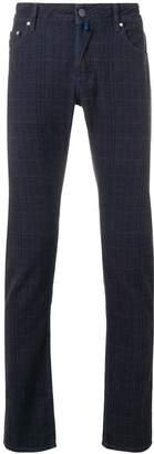 Jacob Cohen check slim-fit jeans