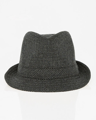 Le Château Houndstooth Wool Blend Fedora Hat