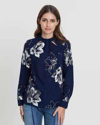 Dorothy Perkins Emily Foil Long Sleeve Top