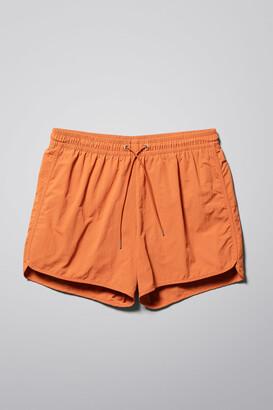 Weekday Tan Structure Swim Shorts - Green