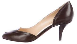 O Jour Leather Pointed-Toe Pumps