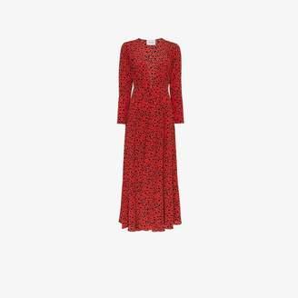 Leone We Are cheetah print silk maxi robe
