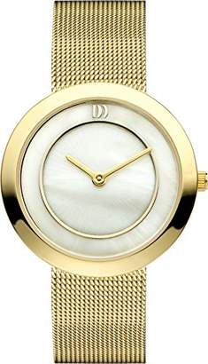 Mother of Pearl Danish Designs Danish Design Women's Quartz Watch with Dial Analogue Display and Gold Stainless Steel Gold Plated Bracelet DZ120223