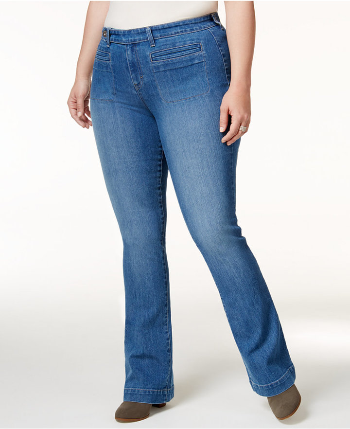 Style&Co. Style & Co Plus Size Curvy Tuscon Wash Bootcut Jeans, Created for Macy's