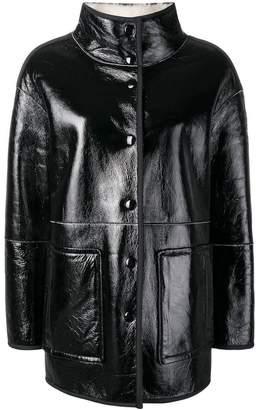 Yves Salomon short shearling coat