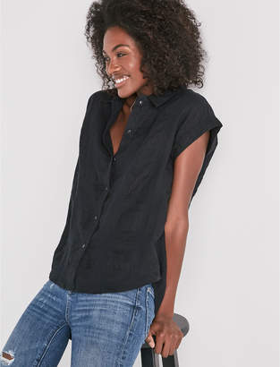 Lucky Brand Solid Short Sleeve Top