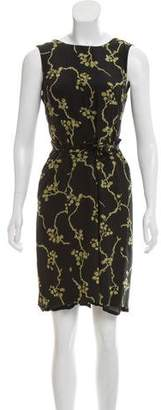Max Mara Sleeveless Silk Wrap Dress