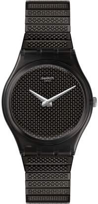 Swatch Noirette Stainless Steel Watch -GB313A