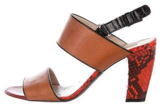 Dries Van Noten Leather Ankle Strap Sandals