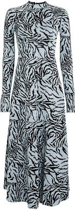 Proenza Schouler Zebra Jacquard Knit Dress