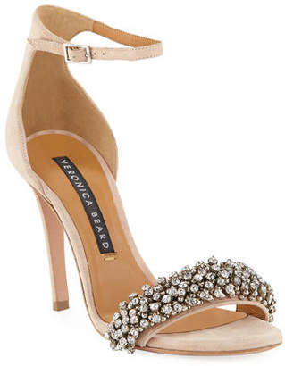 22524eb4a at Neiman Marcus · Veronica Beard Rowena Embellished Strappy Sandals