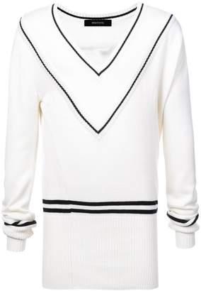 Bmuet(Te) contrast stripe jumper