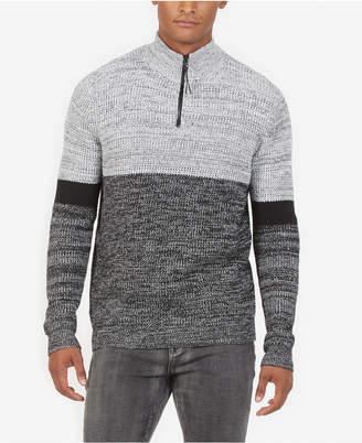Kenneth Cole Men's Colorblocked 1/4-Zip Sweater