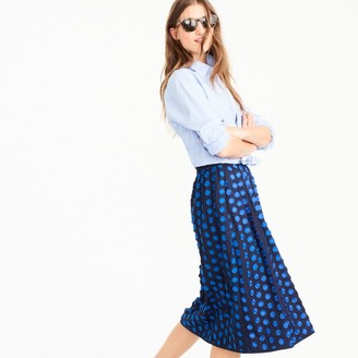 Midi skirt in fringe dot $110 thestylecure.com