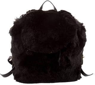 Prada Faux Fur Backpack