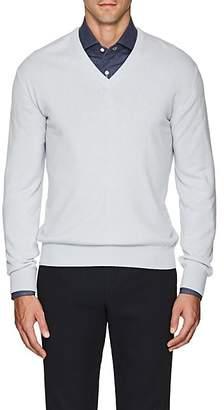 Barneys New York Men's Cashmere V-Neck Sweater - Lt. Blue