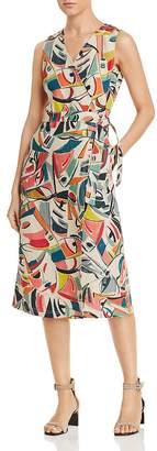 Lafayette 148 New York Pammie Printed Wrap Dress