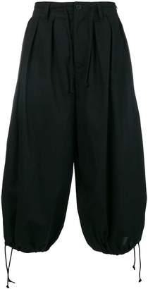 Yohji Yamamoto cropped harem trousers