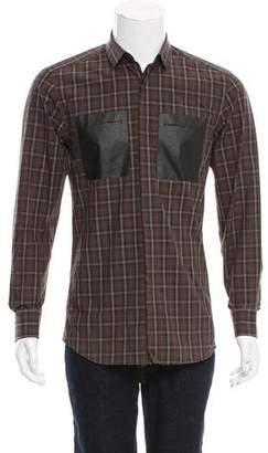 Neil Barrett Plaid Button-Up Shirt