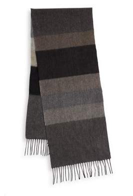 Black & Brown Black Brown Cashmere Colorblock Scarf