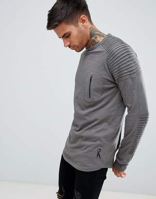 Ringspun Pocket Long Sleeve Top