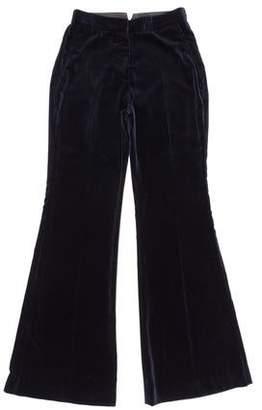 Dusan Mid-Rise Velvet Pants