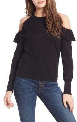 Women's Bp. Ruffle Cold Shoulder Pullover $49 thestylecure.com