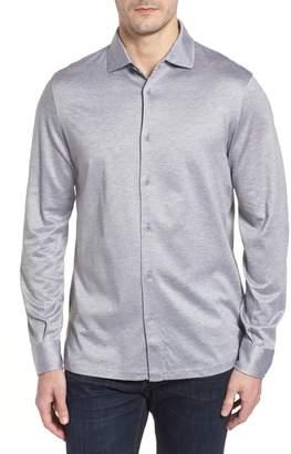Bugatchi Regular Fit Silk Blend Sport Shirt