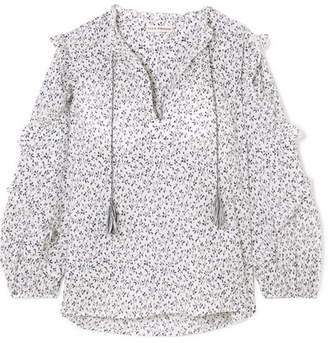 Ulla Johnson Lillian Floral-print Cotton-gauze Blouse - White