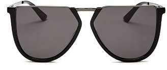 McQ Women's Flat Top Aviator Sunglasses, 58 mm