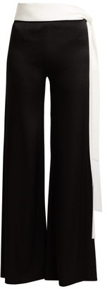 Galvan Vesper Tie Waist Trousers - Womens - Black White