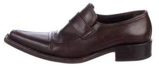 DSQUARED2 Pointed-Toe Leather Loafers