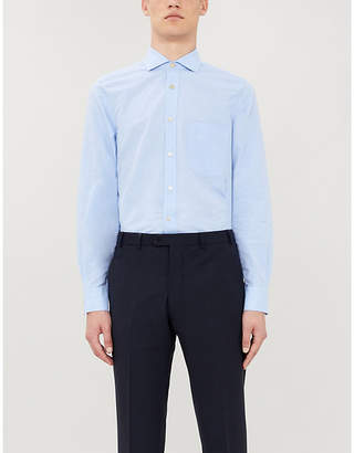 Paul Smith Slim-fit cotton and linen-blend shirt