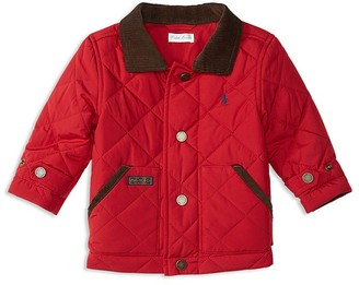 Ralph Lauren Childrenswear Infant Boys' Corduroy Collar Diamond Quilted Jacket - Sizes 3-24 Months $99.50 thestylecure.com