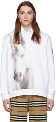 Burberry White Unicorn Hoodie