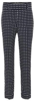 Haider Ackermann Polka-dot cropped trousers