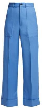 Toga Wool Trousers - Womens - Blue