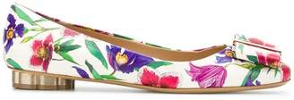 Salvatore Ferragamo printed Vara ballerina shoes