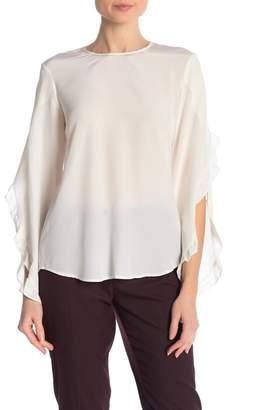A.L.C. Hera Split Ruffle Sleeve Silk Blouse