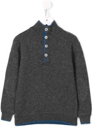 Cashmirino Button placket knitted jumper