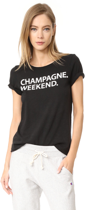 Chaser Champagne Weekend Tee $62 thestylecure.com