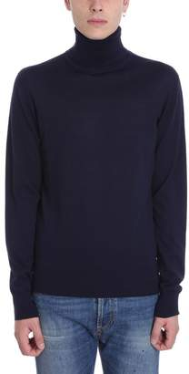 Mauro Grifoni Blue Wool Turtleneck Sweater