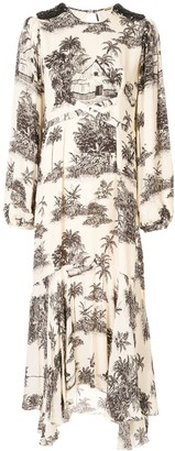 Johanna Ortiz Nostalgia del Pasado silk dress