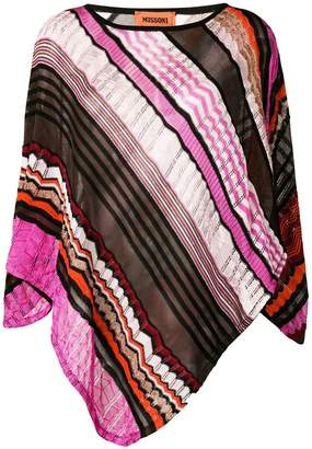 Missoni lightweight lace detail poncho