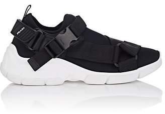 Prada Women's Buckle-Strap Neoprene Sneakers