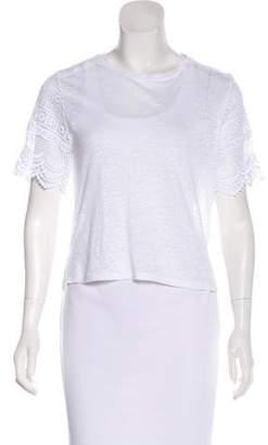 Club Monaco Short Sleeve Knit Top